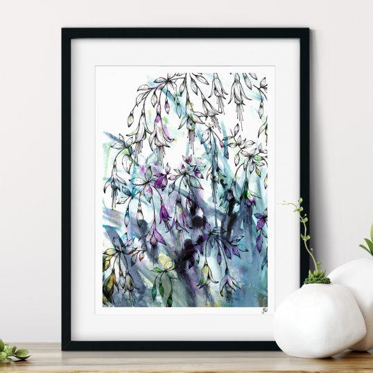 Fuchsia Floral Art Print