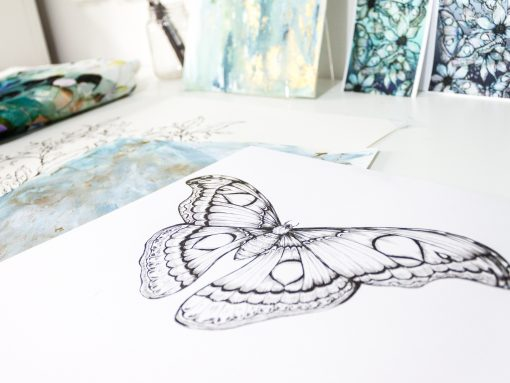 Moth drawing close up- Jessica Wilde