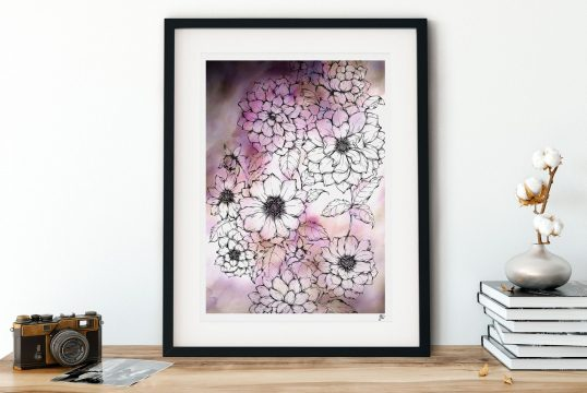 Dahlia Floral Illustration