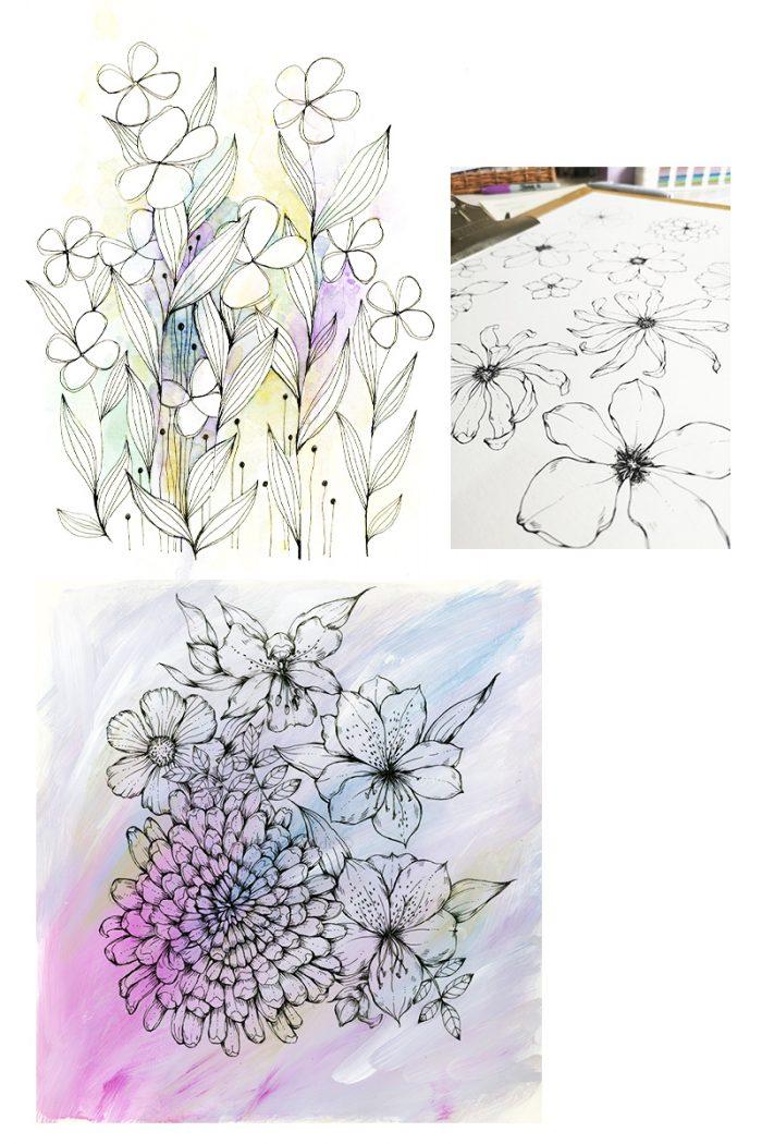 Floral Sketchbook by Jessica Wilde